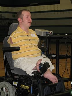 Chet McDoniel speaks about being happy at Dawson Middle School in Southlake, TX
