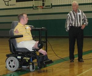 Jim and Chet McDoniel present at Dawson Middle School