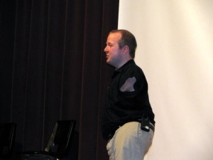 Chet McDoniel gives an in-service program in Shirley, AR