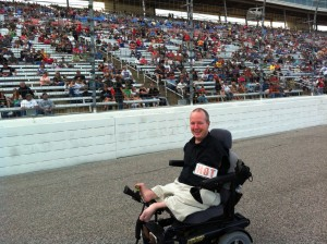 Chet McDoniel on the track at Texas Motor Speedway